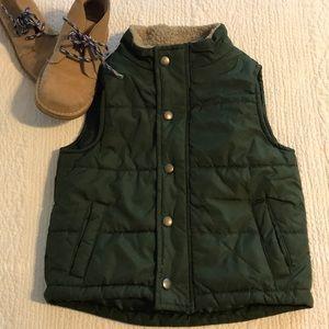 Handsome Gymboree Green Boys Puffy Vest 12-24 mos